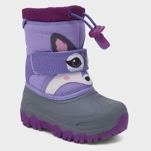 Cat & Jack Girls' Leva Racoon Winter Boots Size 9